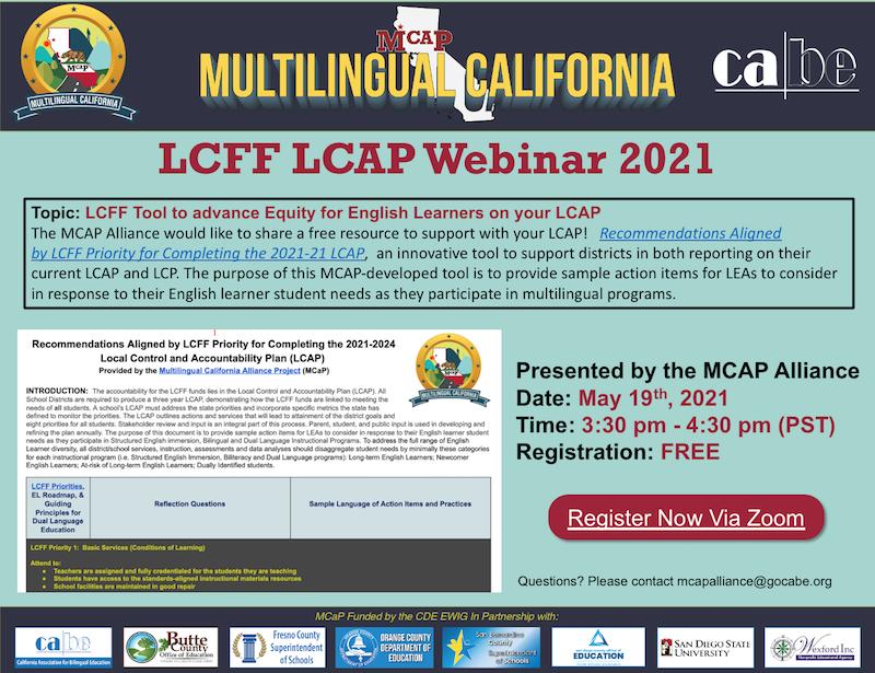LCFF LCAP Webinar 2021 Promo